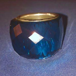 Swarovski Montana blue crystal Nirvana ring